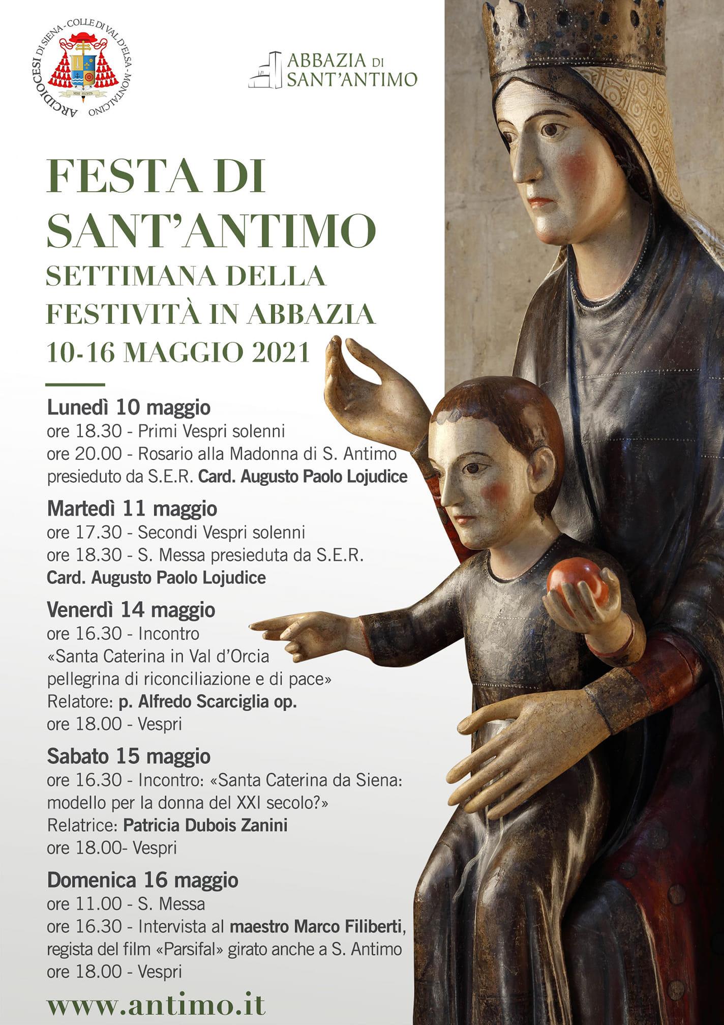 10 – 16 MAGGIO 2021 FESTA DI SANT'ANTIMO – SETTIMANA DELLA FESTIVITA' IN ABBAZIA